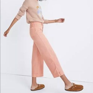 Madewell Tall Slim Emmett Wide-Leg Crop Pants